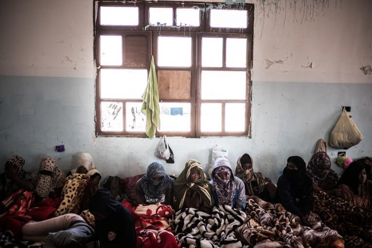 Un centrede détention dans la région de Tripoli. Libye, 2017.