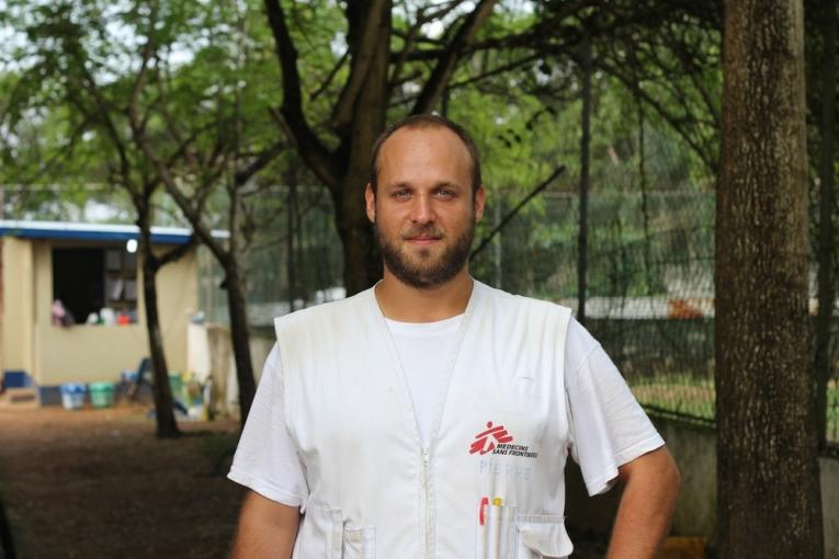 Pierre Trbovic anthropologue MSF à Monrovia au Liberia.