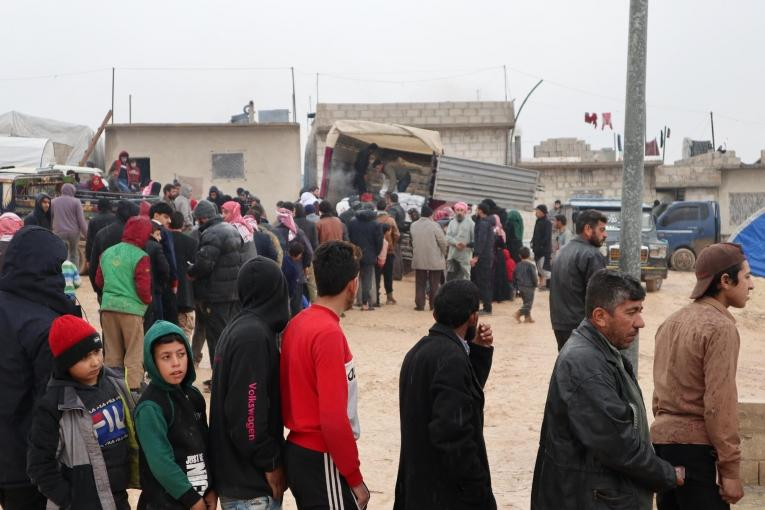 Despair and displacement in wintery northwest Syria