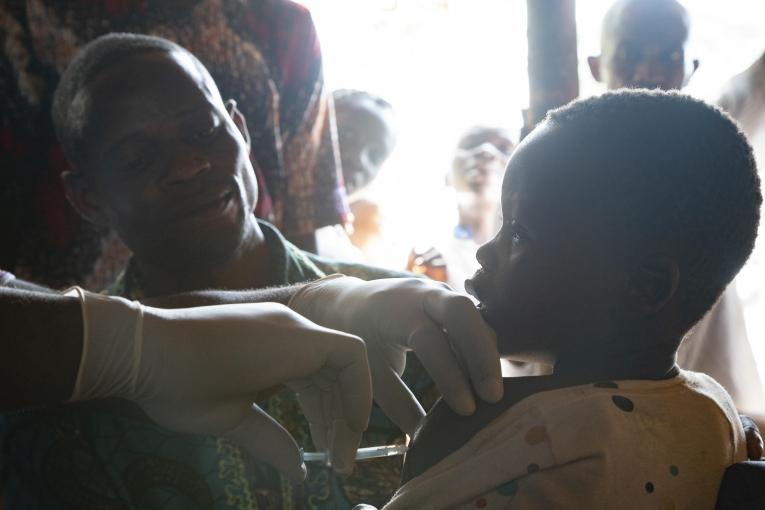 Measles intervention in Boso Manzi