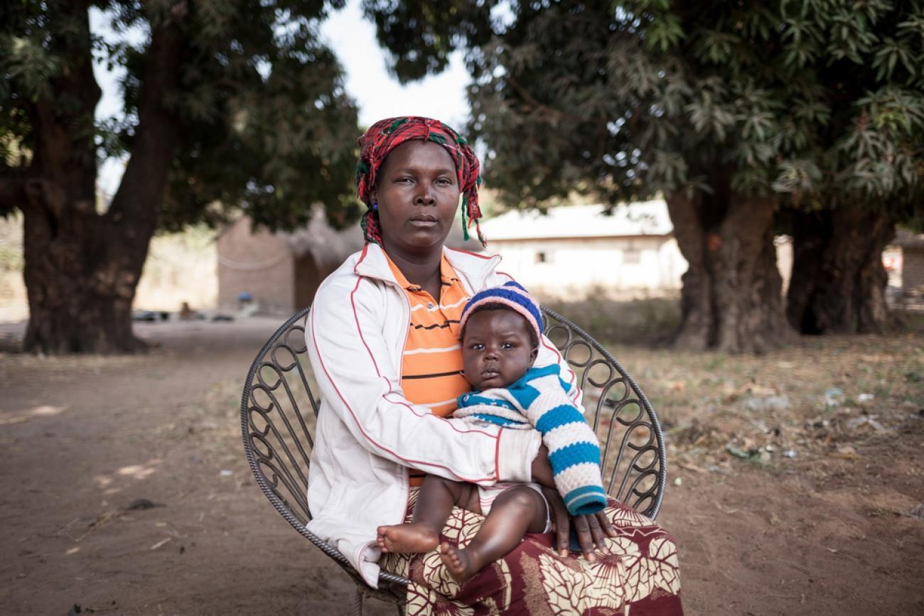 Josiane a fui Betokomia avec ses enfants.  © Alexis Huguet