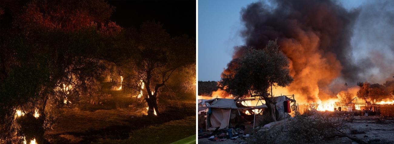Camp de Moria, Lesbos, le 9 septembre 2020.  © Enri Canaj / Magnum Photos