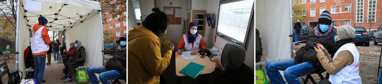 Une clinique mobile de MSF à Paris en novembre 2020.  © Mohammad Ghannam/MSF