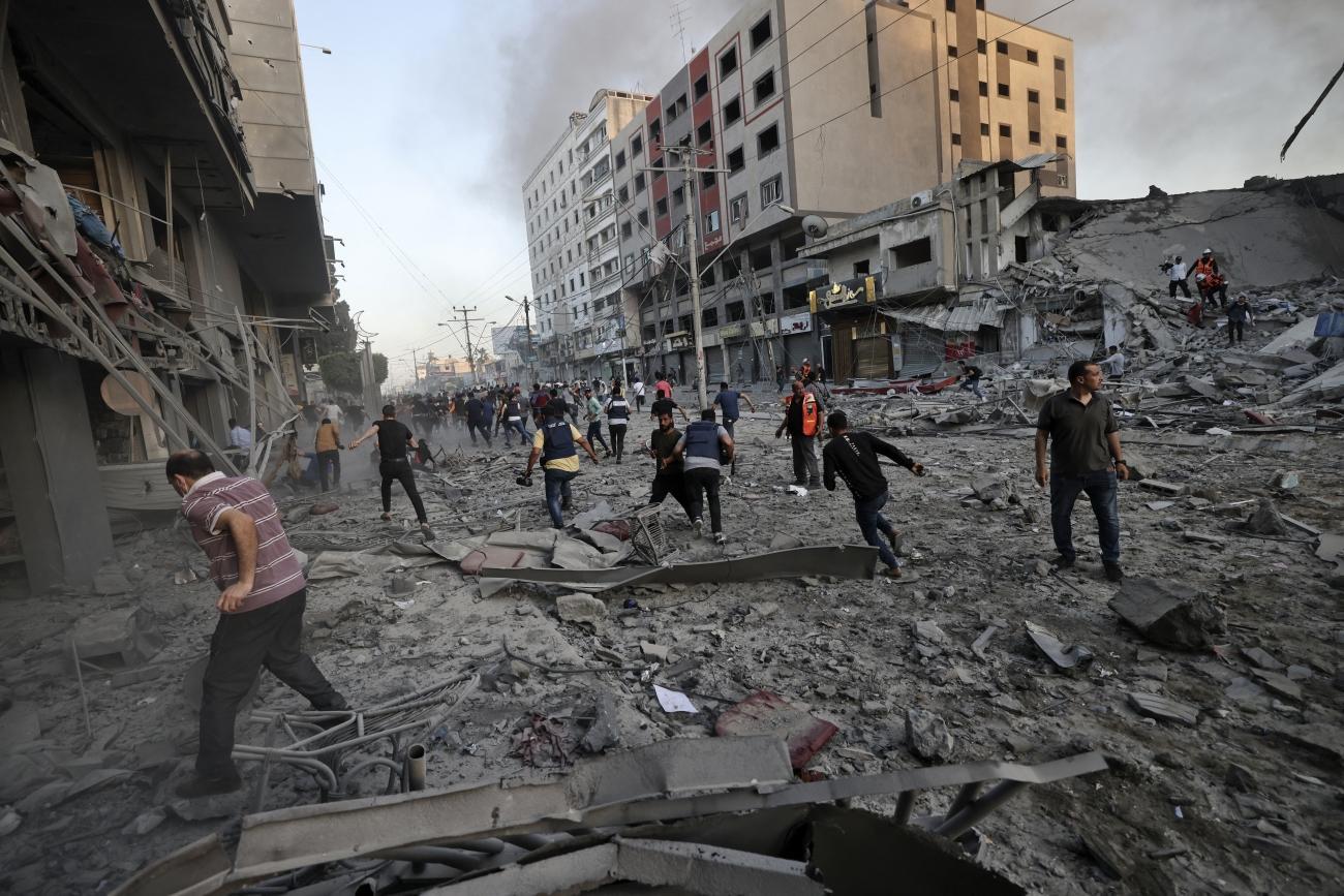 Bombardement aérien dans la ville de Gaza, 12 mai 2021.  © Mohammed Abed/AFP