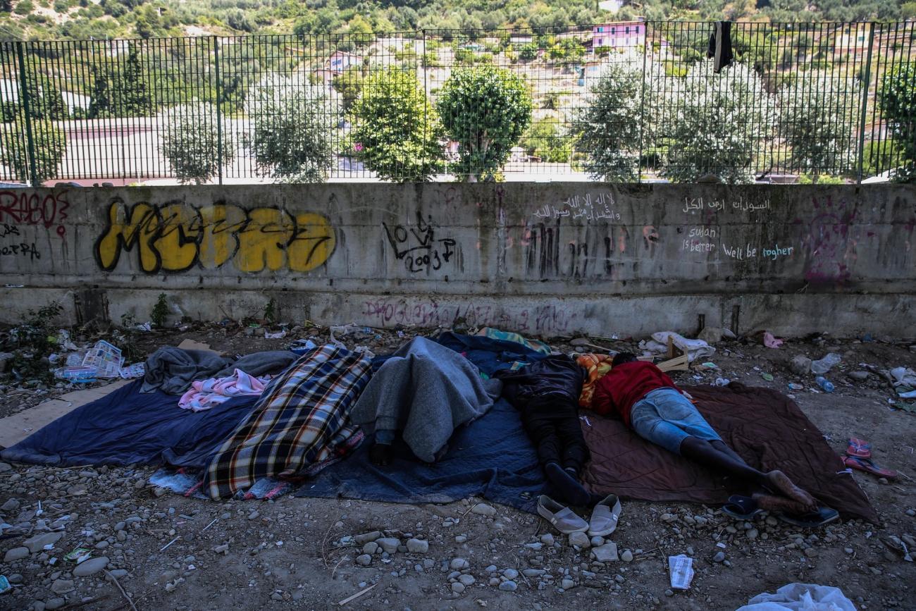 Du Soudan, de Somalie ou d'Ethiopie, les réfugiés vivent sous un pont à Vintimille, en attendant de rejoindre la France.    © Mohammad Ghannam/MSF