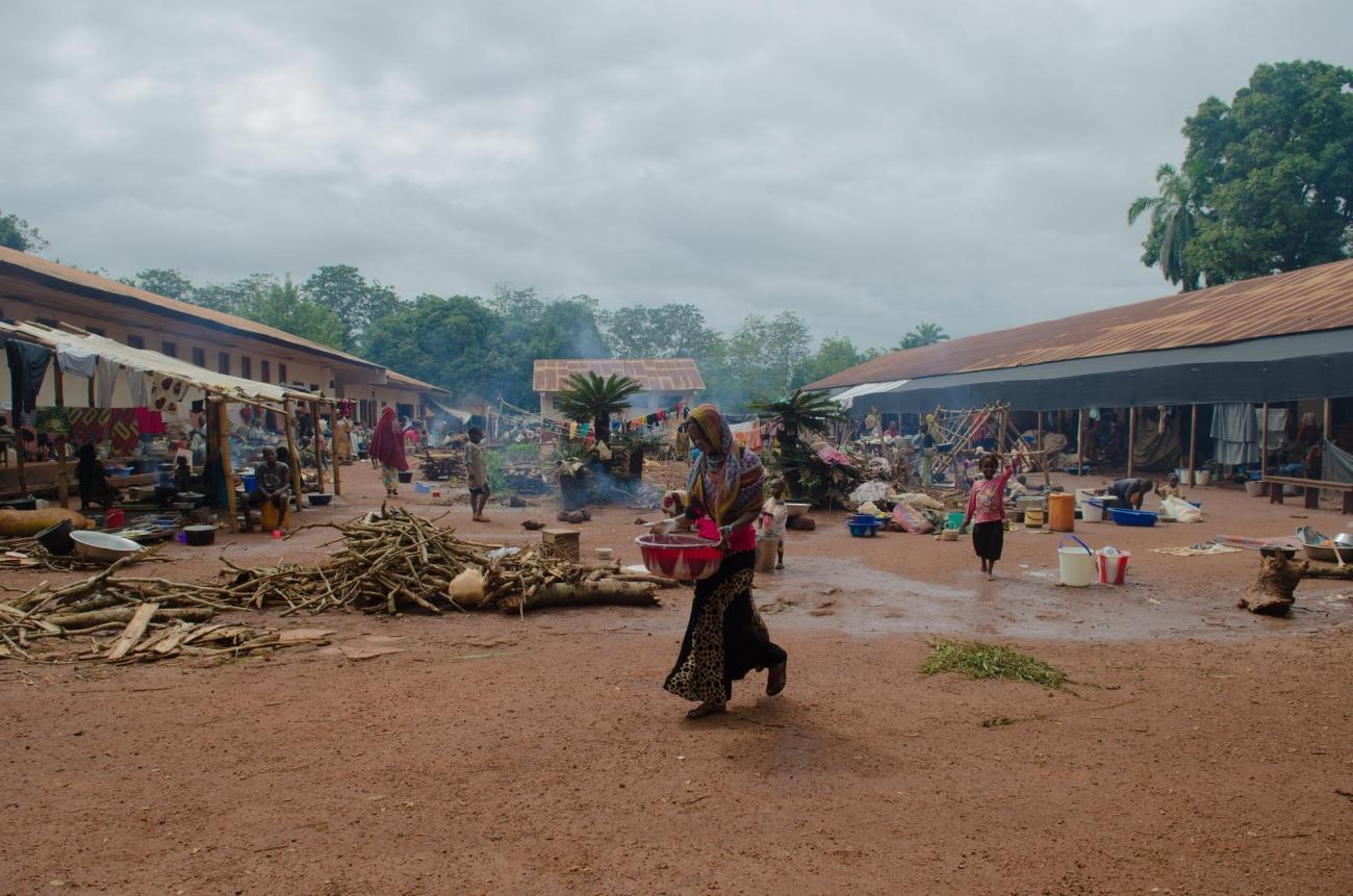 Bagassou, le Petit Séminaire n'est pas adapté pour accueillir les 2000 musulmans qui y vivent depuis mi-mai 2017.  © Natacha Buhler/MSF