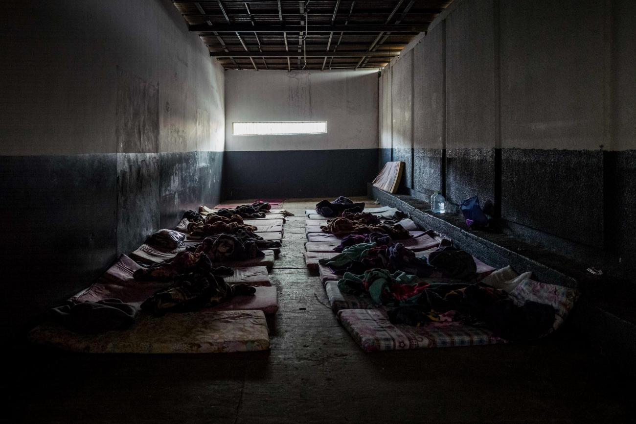 Les détenus suspectés d'avoir le VIH, la tuberculose ou tout autres maladies infectieuses sont tenus à l'écart dans une cellule séparée.  © Guillaume Binet /Myop