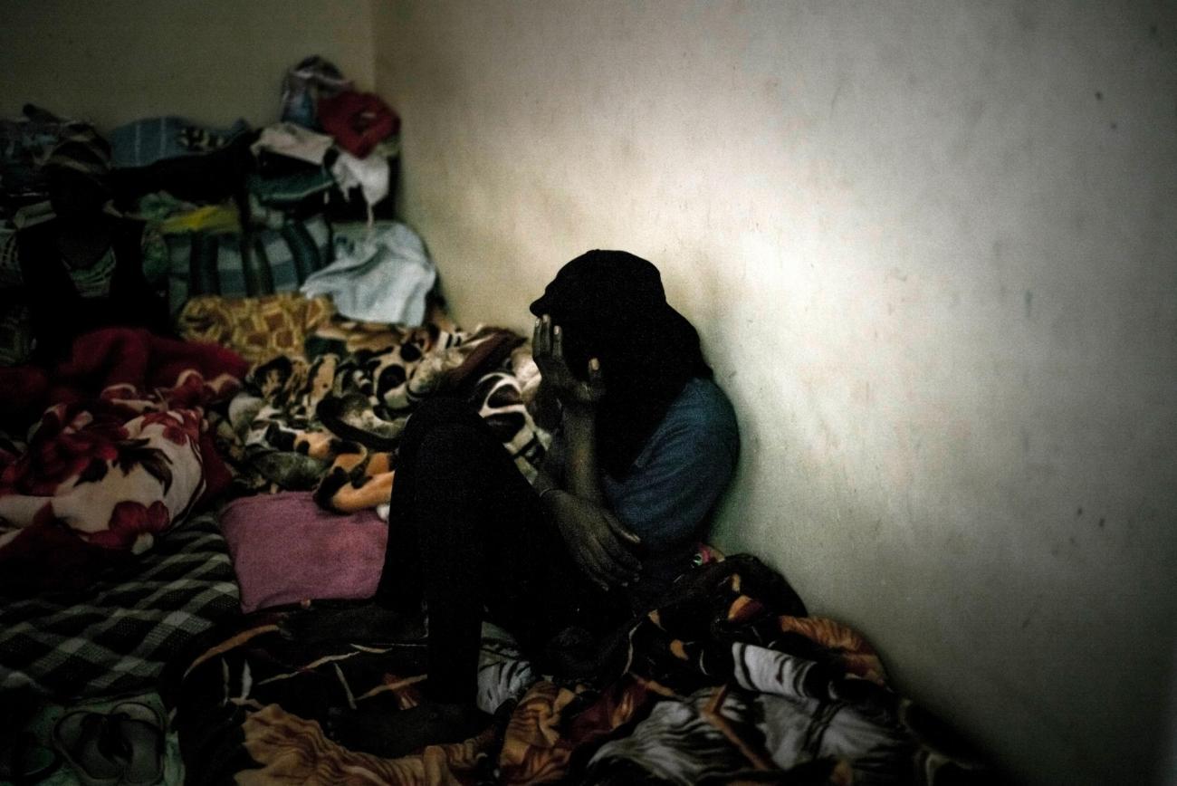 Une femme détenue dans le centre deSorman.  © Guillaume Binet/Myop