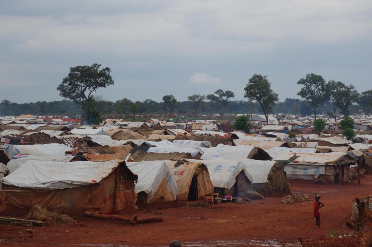 PK3, camp de déplacés majoritairement chrétiens de la ville de Bria.  © Benoit Finck/MSF