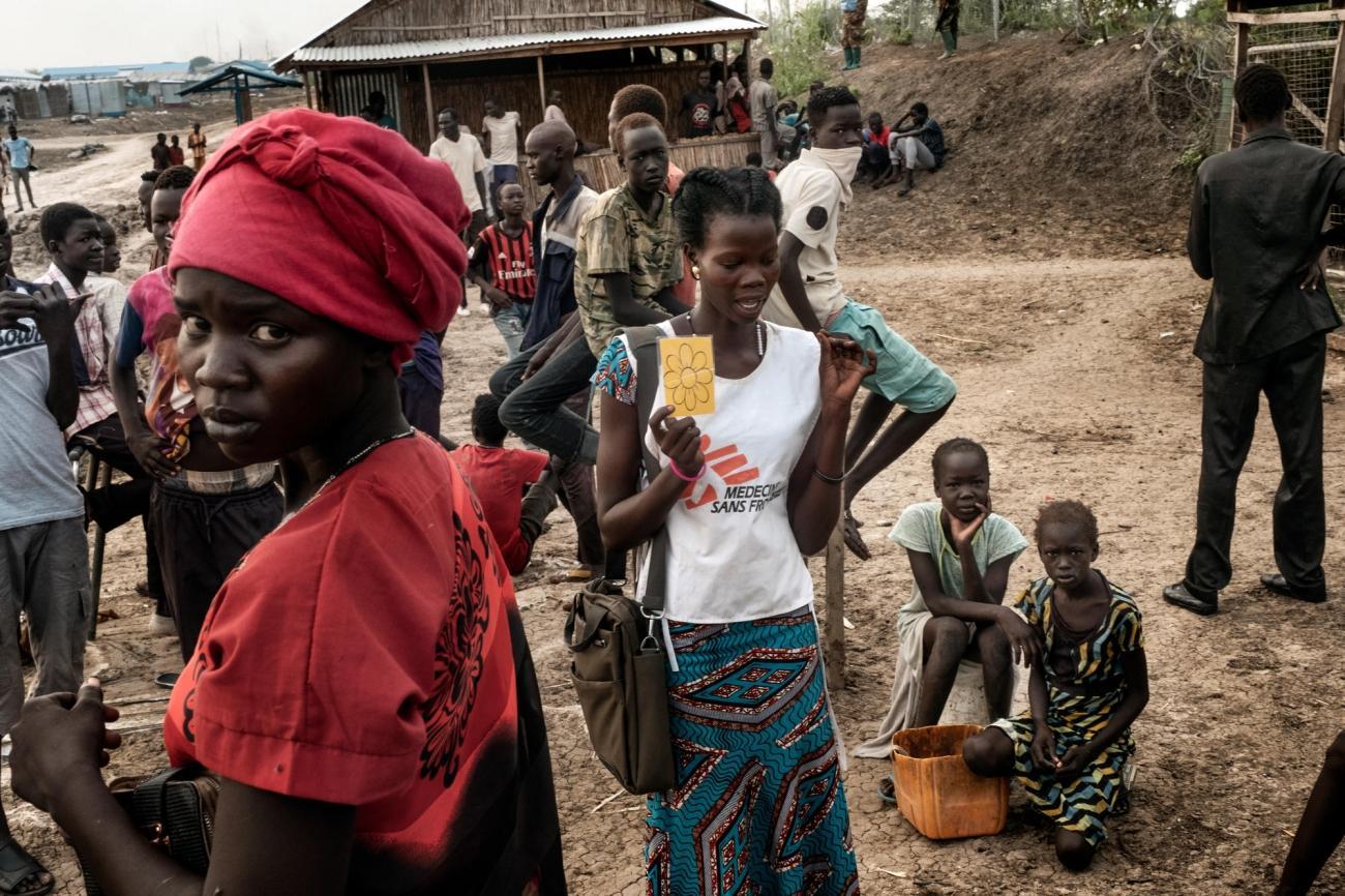 Les équipes de Médecins Sans Frontières proposent des soins de santé sexuelle et reproductive dans le camp de Bentiu, notamment aux victimes de violences sexuelles.  © Peter Bauza