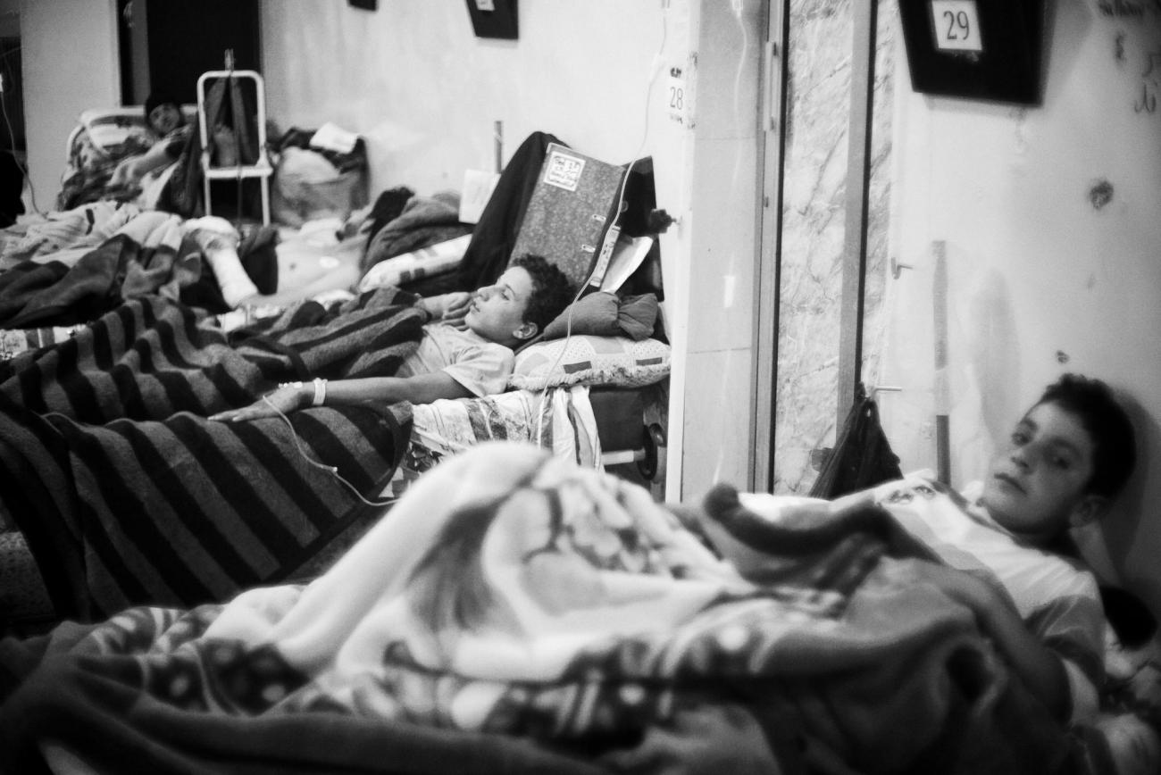 Unité d'hospitalisation de l'hôpital de Tal-Abyad.  © Eddy Van Wessel