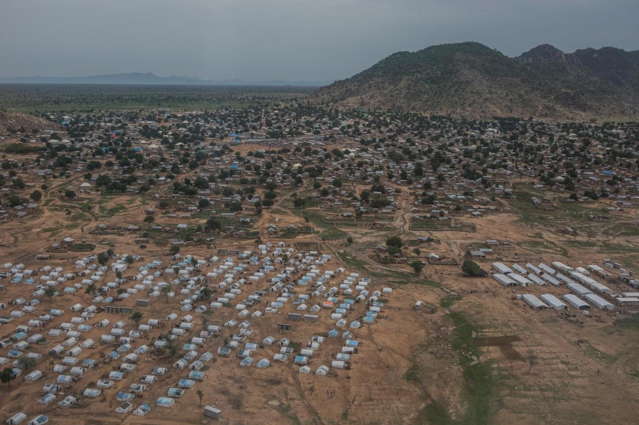 La ville de Pulka, située dans l'État de Borno, à proximité de la frontière camerounaise.  © MSF/Anna Surinyach