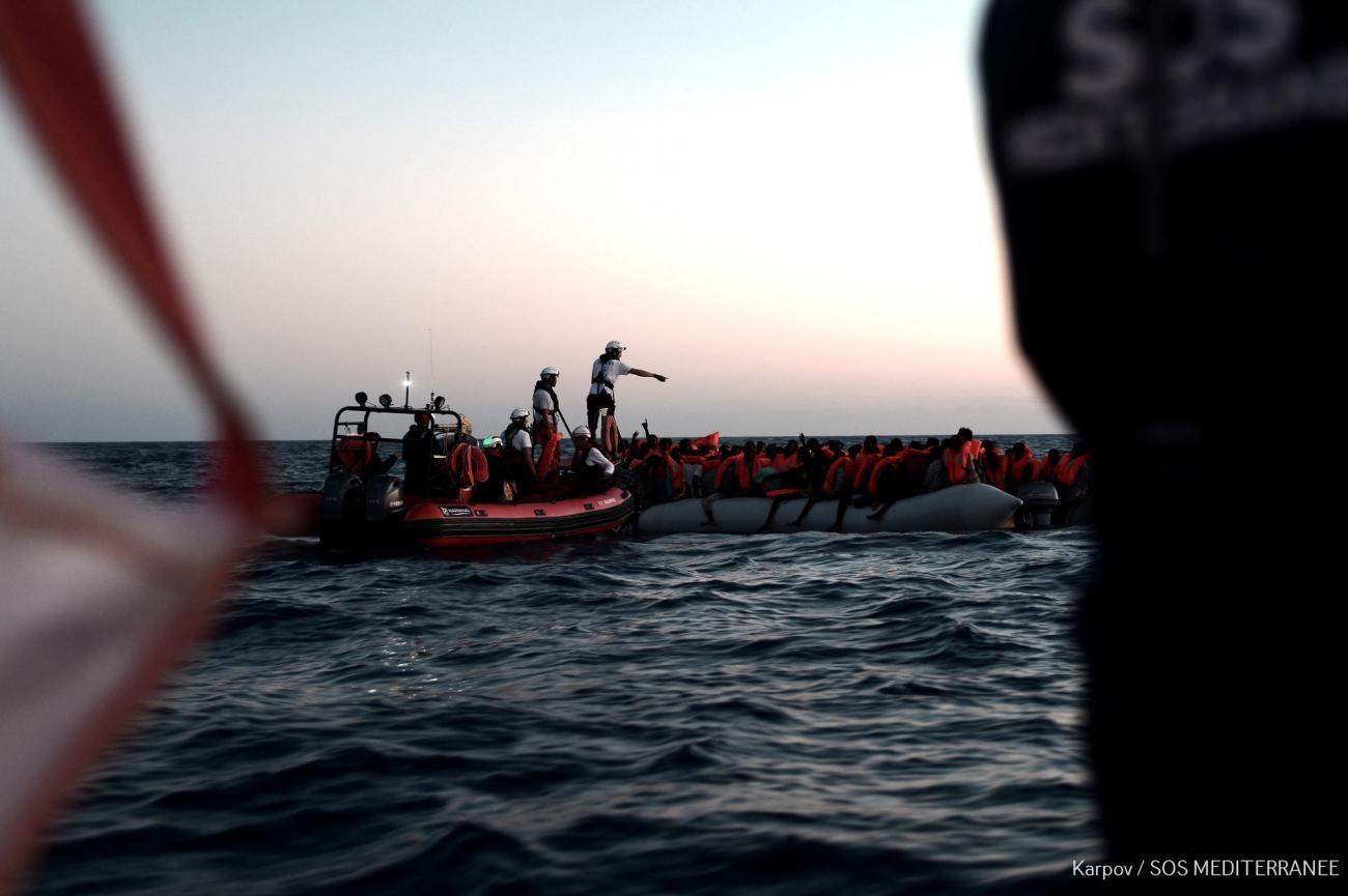 Mer Méditerranée, juin 2018.  © Kenny Karpov/SOS MEDITERRANEE