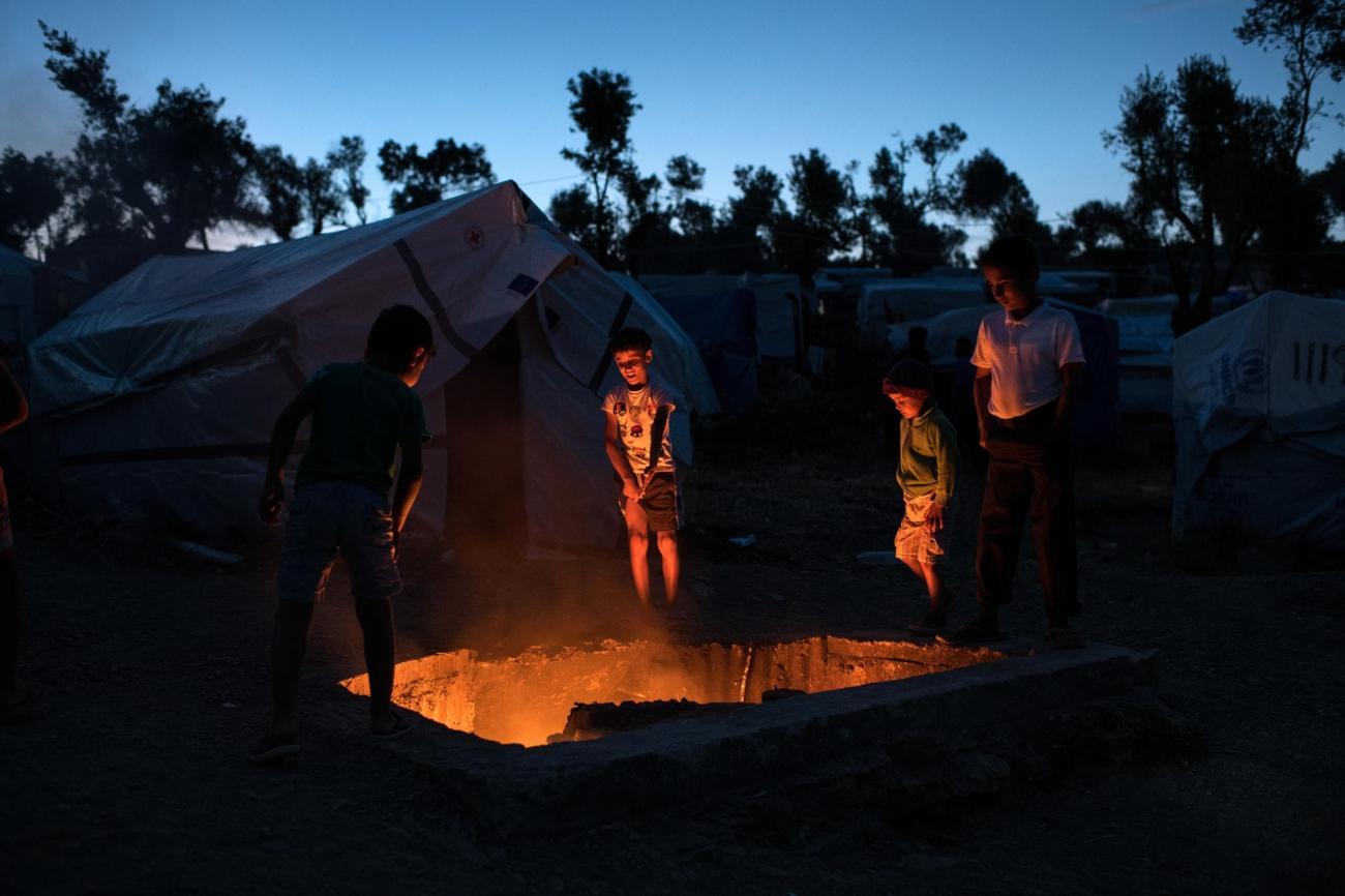 Camp de Moria sur l'île de Lesbos. Grèce. 2018  © Robin Hammond/Witness Change