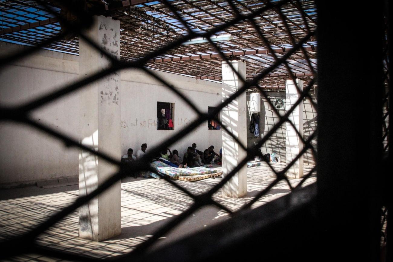 Centre de détention de Khoms, à 120km à l'est de Tripoli.  © Sara Creta/MSF