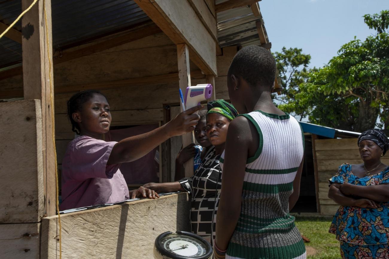 Zone de triage dans le centre de santé deMadrandele à Beni.  © Pablo Garrigos/MSF