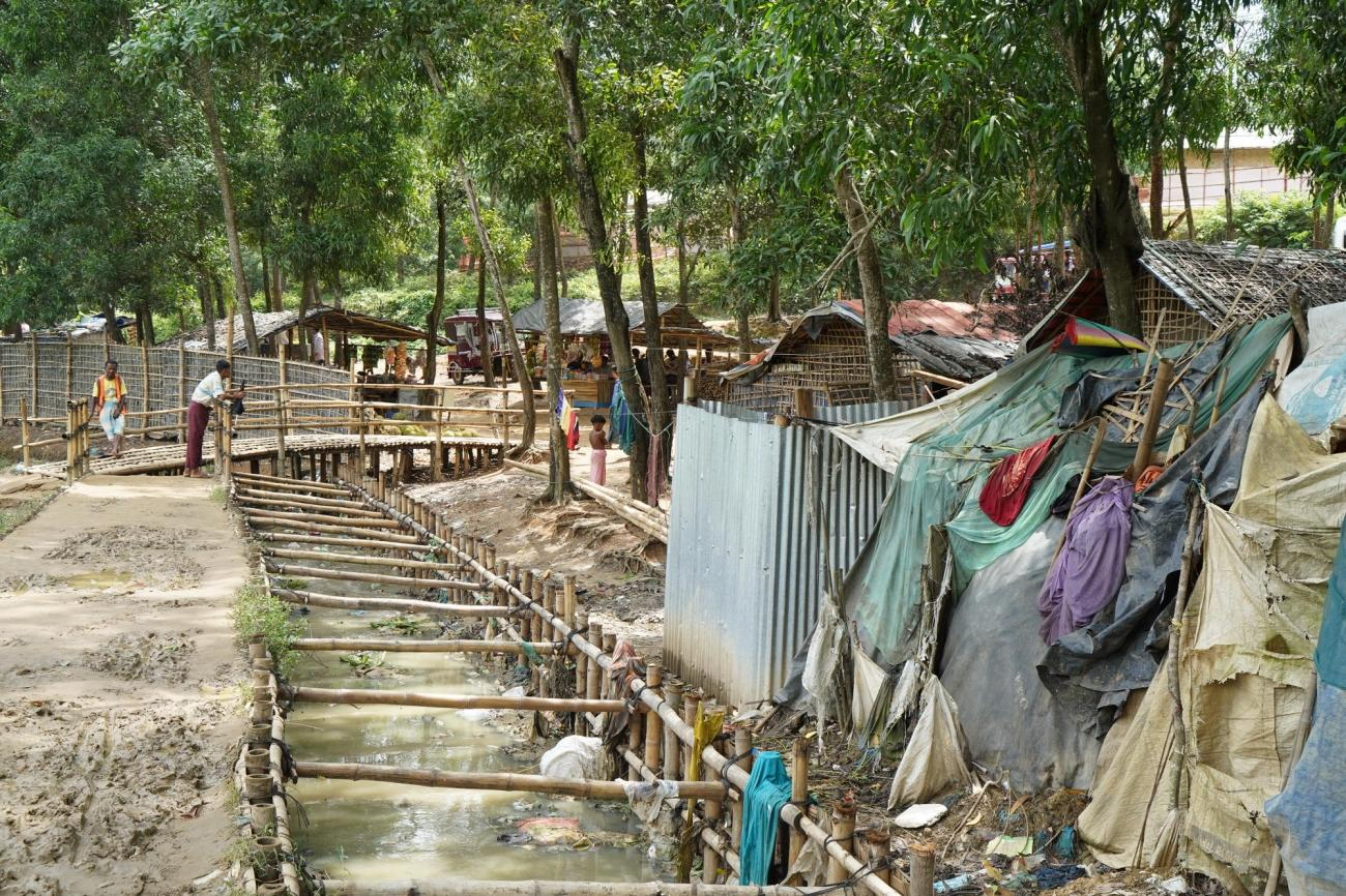 Le camp de Kutupalong, au Bangladesh.  © Dalila Mahdawi/MSF