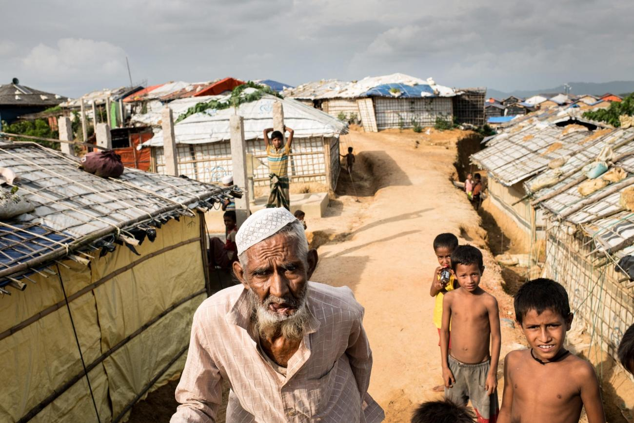 Camp de réfugiés de Kutupalong-Balu dans le camp deCox's Bazar, au Bangladesh.  © Robin Hammond/NOOR