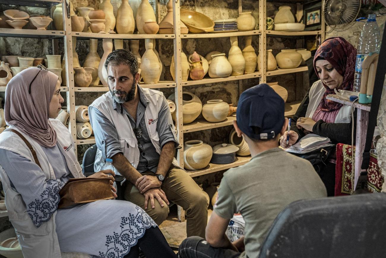 Depuis 1996, les équipes de MSF interviennent dans à Hébron, où elles fournissent des consultations en santé mentale pour la population. 2019.  © Juan Carlos Tomasi