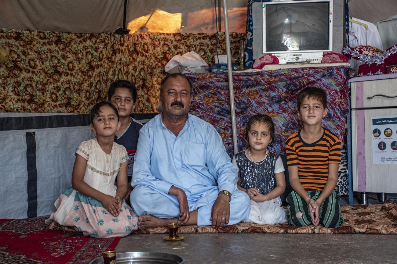 Kamil vient d'Al-Saadiya et vit avec sa famille dans le camp d'Alwand 2 depuis trois ans.  © MSF/Hassan Kamal Al-Deen
