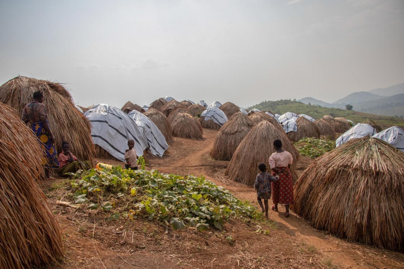 Dans le camp de déplacés de Kambe, zone de santé de Nizi.  © MSF/Solen Mourlon