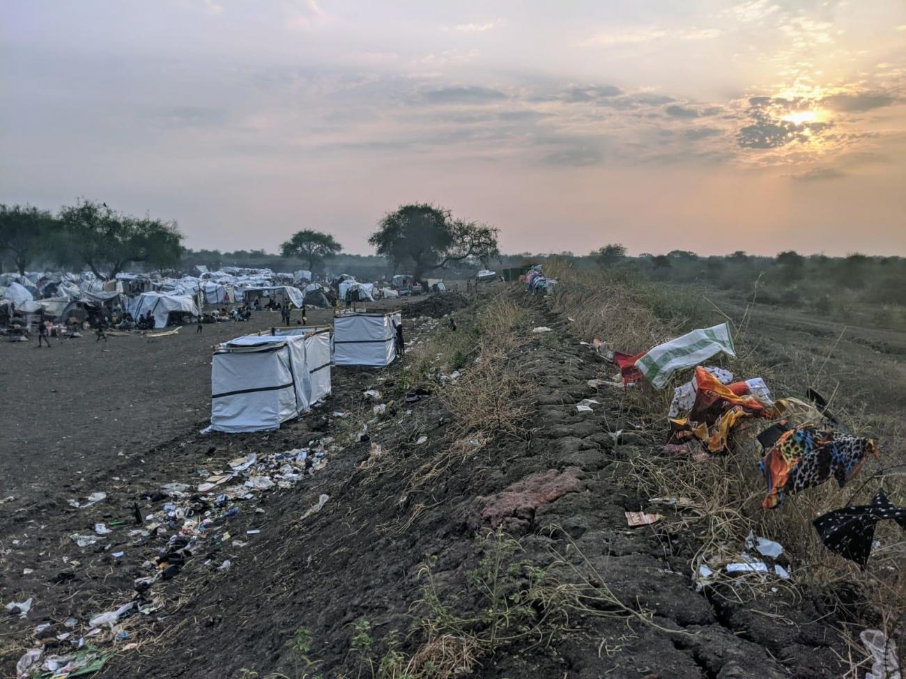 Site de protection des civils à Pibor, dans l'État de Jonglei, Soudan du Sud.  © MSF