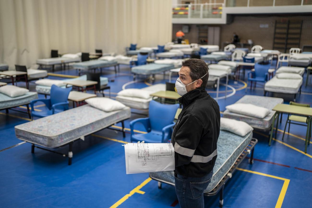 Hôpital temporaire installé par MSF à Leganes. Foto: Olmo Calvo /MSF  © Olmo Calvo