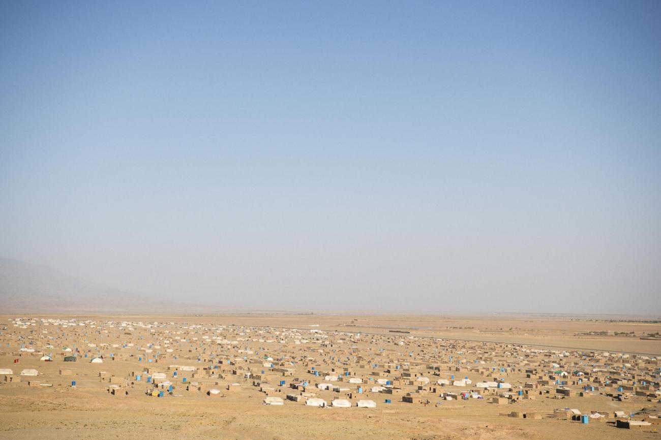 Camp de déplacés de Shahrak-é-Sabz, en périphérie de la ville d'Hérat, Afghanistan, août 2019.  © Andrew Quilty