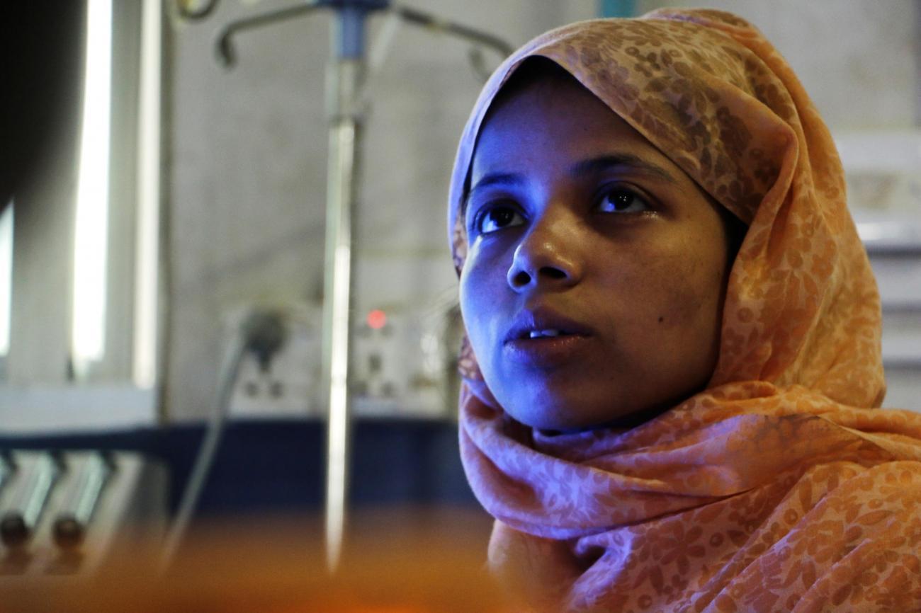 Sualeha Mohamed Ayubiu a 25 ans. Elle vivait à Manupara, dans la ville de Bhushidong, au Myanmar. Elle a fui le pays en 2017 et vit maintenant dans un camp de réfugiés à Cox's Bazar.  © Hasnat Sohan/MSF