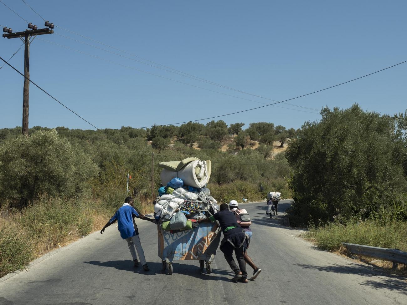 Lesbos, le 11 septembre 2020.  © Enri Canaj / Magnum Photos