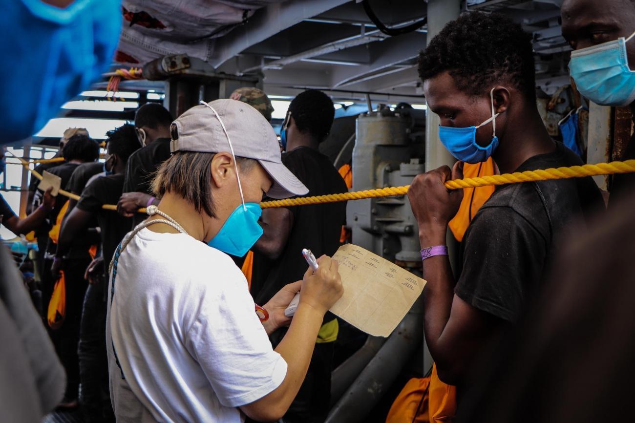 À bord de Sea-Watch 4, septembre 2020.  © Hannah Wallace Bowman/MSF