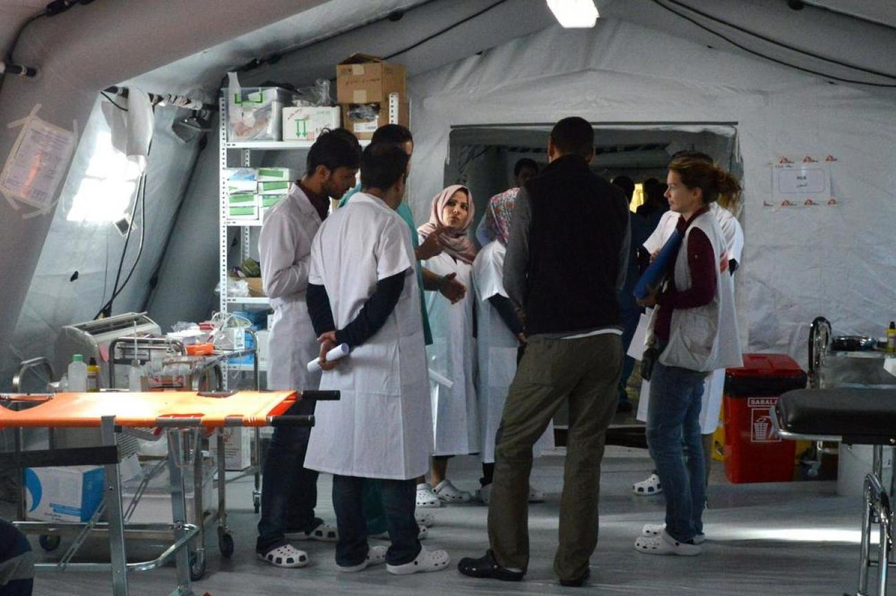 L'objectif de l'hôpital est de soigner les patients gravement blessés. Hôpital de Qayyarah, le 12 novembre 2016.  © MSF