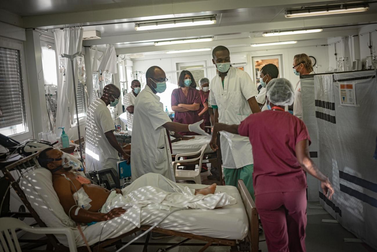 Unité de soins intensifs de l'hôpital de Tabarre à Port-au-Prince.  © Guillaume Binet/MYOP