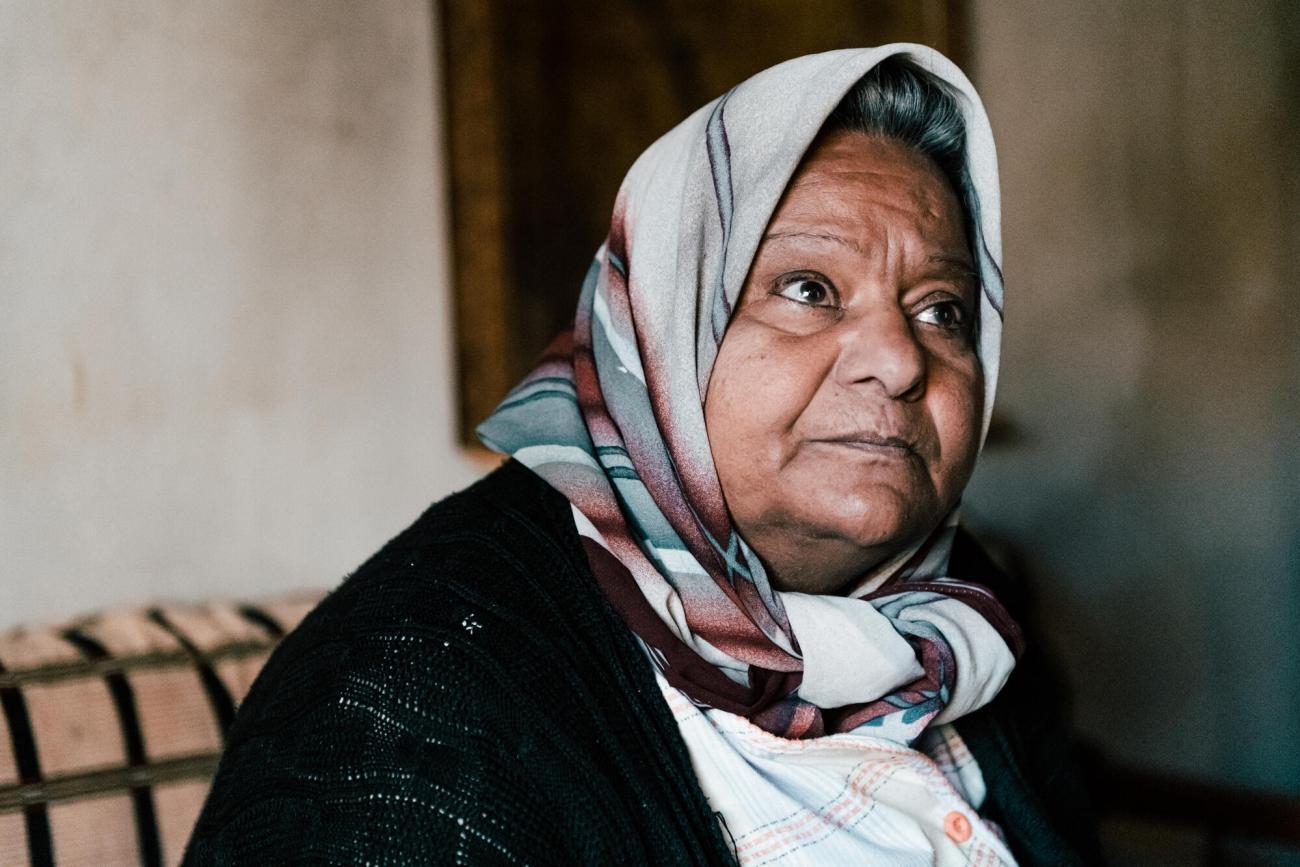 Fatima habite à Hermel, dans le nord de la plaine de la Beka, Liban. 2020. Karine Pierre/Hans Lucas for MSF / Instagram : @pics_stone