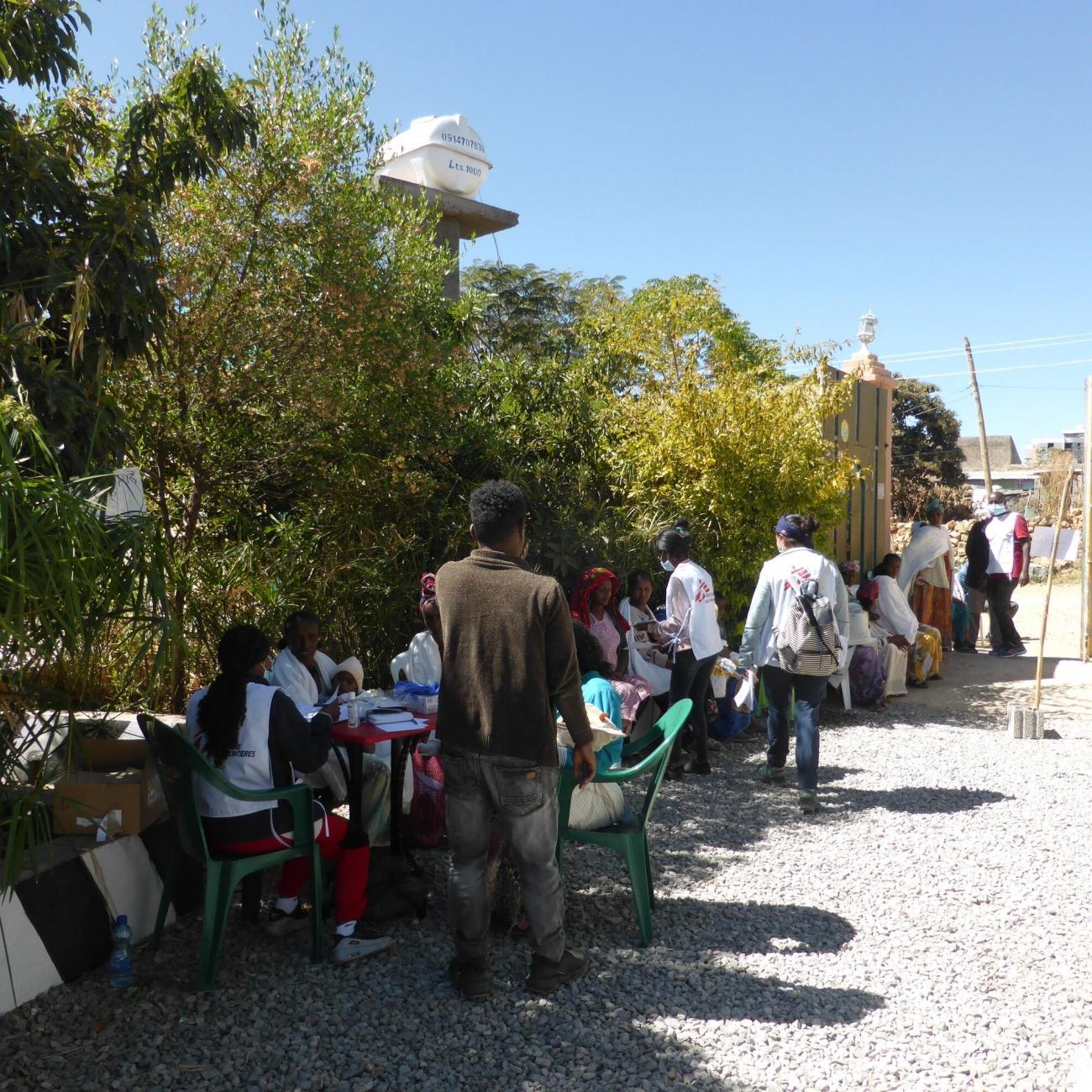 Clinique mobile MSF à Hawzen dans le nord-est du Tigré.  © MSF