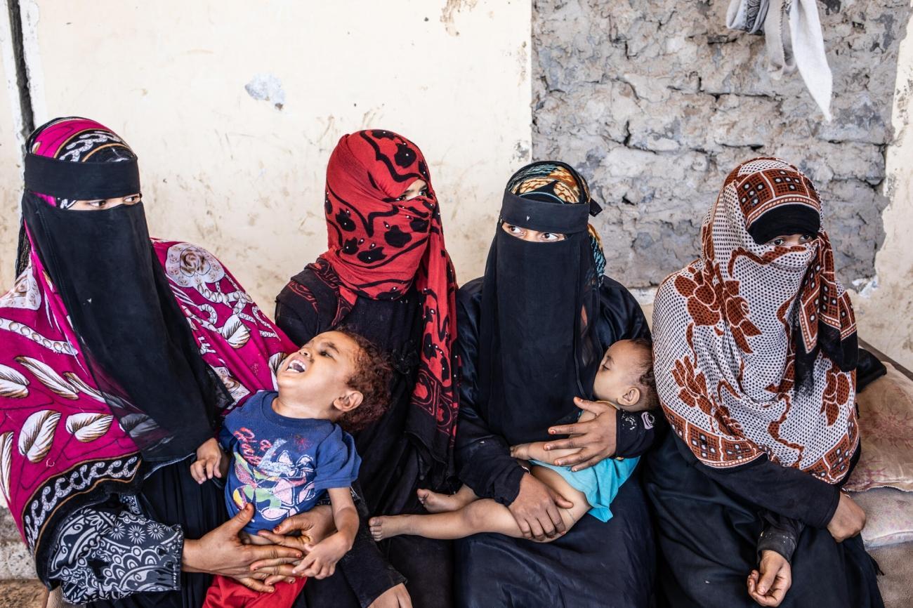 Personnes déplacées par le conflit dans la localité de Mocha, gouvernorat de Taïz.  © Agnes Varraine-Leca/MSF