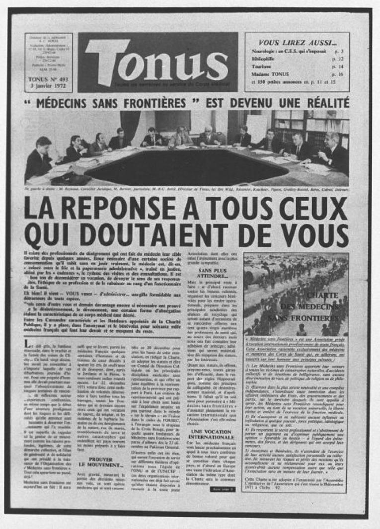 La charte de MSF.  © François Leduc