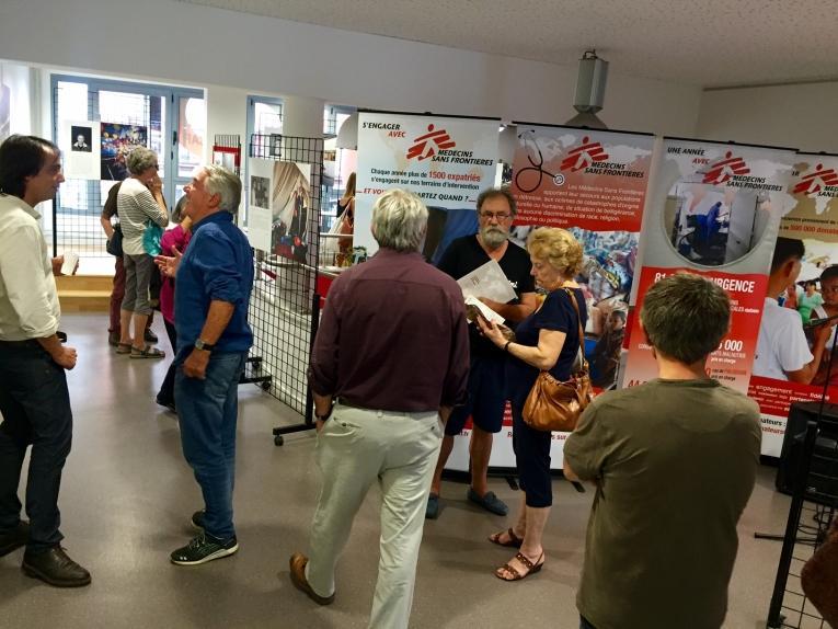 Exposition « Itinéraires intérieurs » à l'Espace Diversités Laïcité à Toulouse, organisée par les équipes des antennes régionales de Médecins Sans Frontières. Septembre 2017.  © MSF