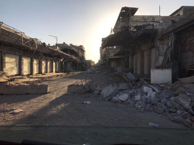 La destruction dans les rues de Mossoul-Ouest. Octobre 2017.  © Imad Aoun/MSF