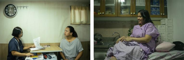 Des philippines lors de consultations de santé sexuelle et reproductive, dans une clinique mobile.  © Hannah Reyes Morales