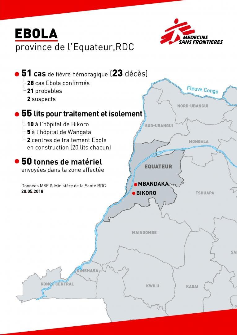 Intervention de MSF contre Ebola en RDC - 22 mai 2018  © MSF