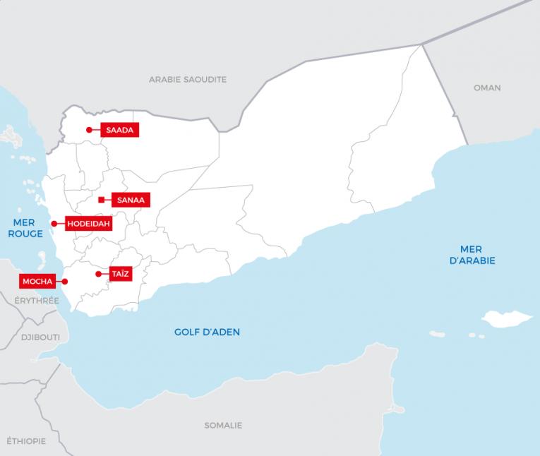 Le port de Hodeidah est un des principaux canaux d'approvisionnement du nord du Yémen.  © MSF - Juin 2018