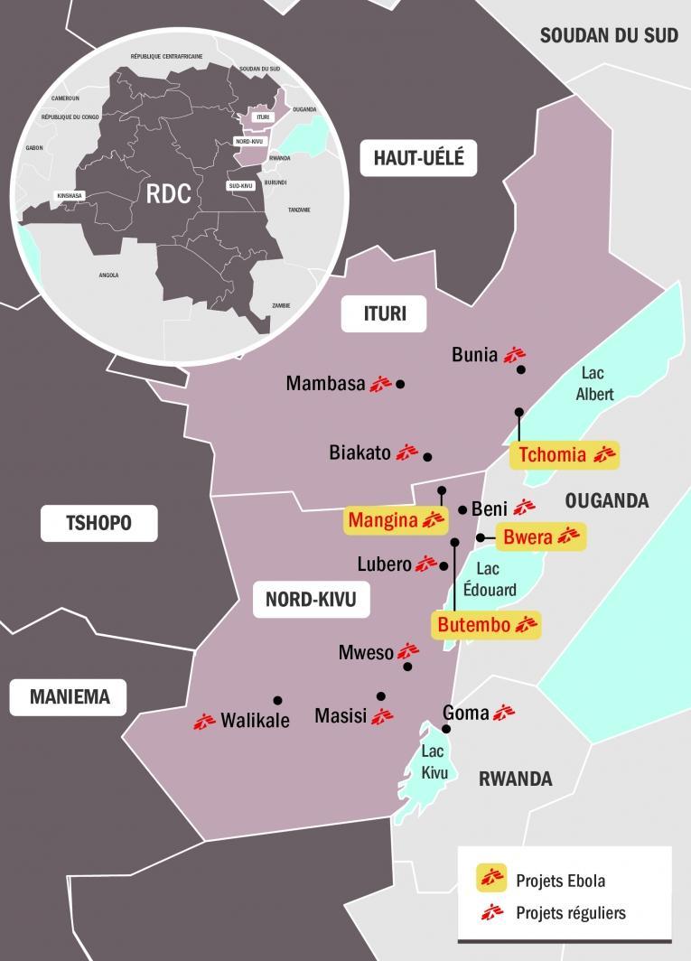 Intervention de MSF en réponse à l'épidémie d'Ebola en République démocratique du Congo. 2018.  © MSF - Septembre 2018
