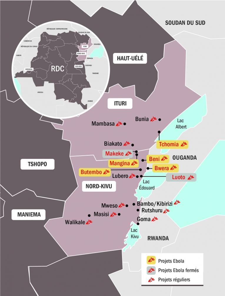 Intervention de MSF en réponse à l'épidémie d'Ebola en République démocratique du Congo. Novembre 2018