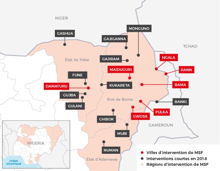 Intervention MSF dans le nord-est du Nigeria. Janvier 2019.  © MSF - Janvier 2019