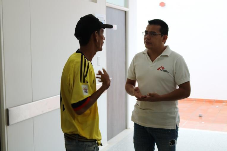 Depuis le début de l'année, les psychologues MSF ont traité 450 patients dont les symptômes incluent souvent de l'anxiété et de la dépression.  © Esteban Montaño/MSF