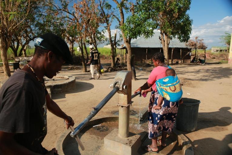Puits du centre de santé de Tica. Mozambique. 2019.  © Mohammad Ghannam/MSF