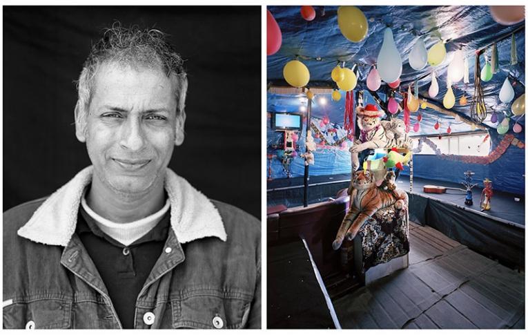 """Awesome, 43 ans, originaire du Pakistan. Ancien guide touristique à Peshawar, il est devenu patron du plus beau restaurant de la Jungle de Calais appelé """"les 3 idiots"""".  © Bruno Fert"""
