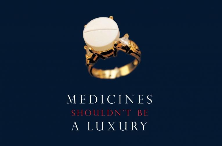 « Les médicaments ne devraient pas être un luxe. »  © CAME