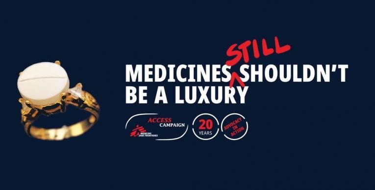 Campagne des 20 ans de la CAME : « Les médicaments ne devraient [toujours] pas être un luxe. »  © CAME